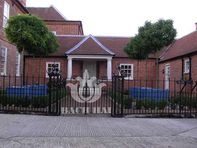 Sắt đặc thiết kế hiện đại trang trí hàng rào cửa cổng.