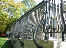 Hàng rào sắt tinh tế nghệ thuật phong cách châu âu