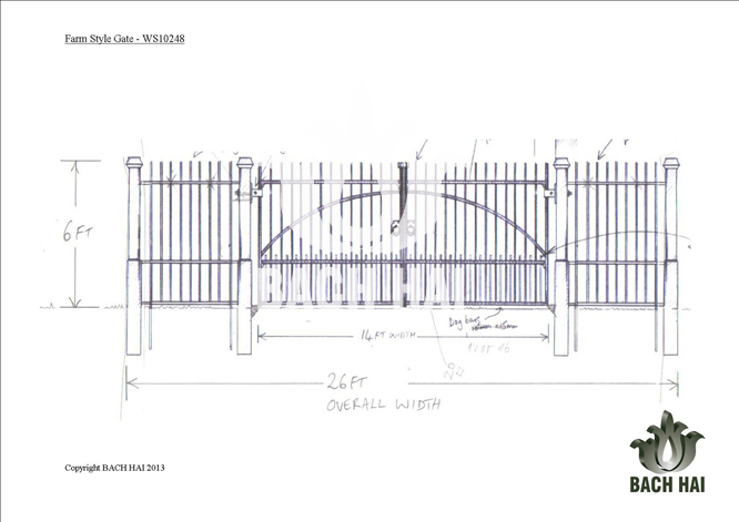 farm style gate - ws10248