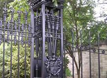 trụ cổng sắt hàng rào biệt thự ws-10226